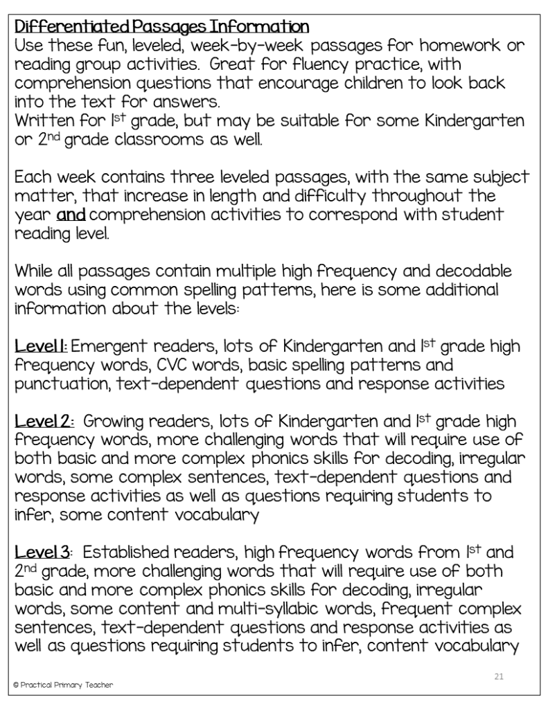 - Using Differentiated Reading Passages In The Classroom